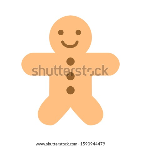 gingerbread-man icon. flat illustration of gingerbread-man vector icon. gingerbread-man sign symbol Royalty-Free Stock Photo #1590944479