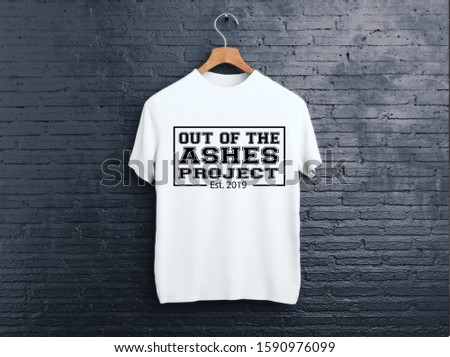 Ashes Typography T-shirt Design 2020 Stock Image #1590976099