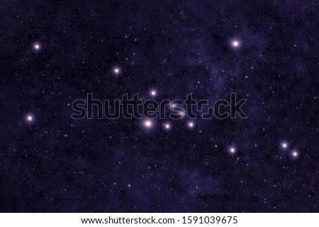 Constellation Taurus. Against the background of the night sky. Elements of this image were furnished by NASA. Royalty-Free Stock Photo #1591039675