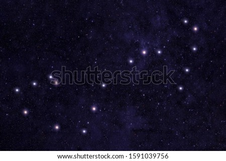 Constellation Scorpio. Against the background of the night sky. Elements of this image were furnished by NASA.