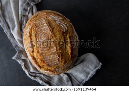 Freshly Baked Boule Bread from Einkorn Flour  #1591139464