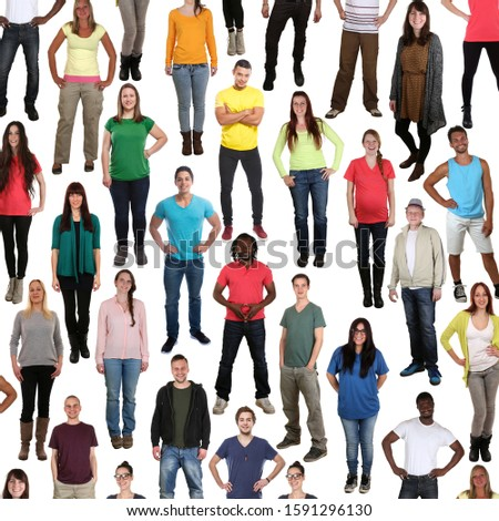 Group of young people background smiling happy multicultural multi ethnic square isolated on a white background #1591296130