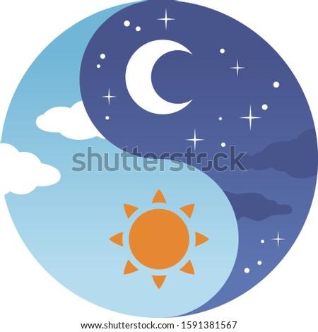 Yin yang day and night #1591381567