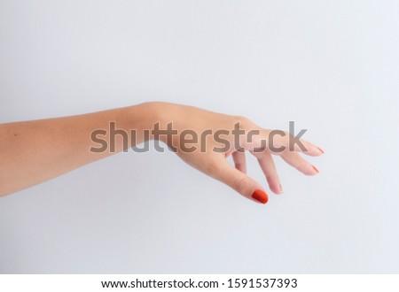 Aesthetic White Female Hand Model #1591537393