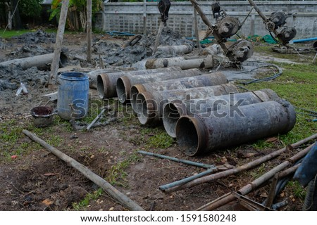 Concrete piling, Piling (Civil engineering),Ahchor pile  #1591580248