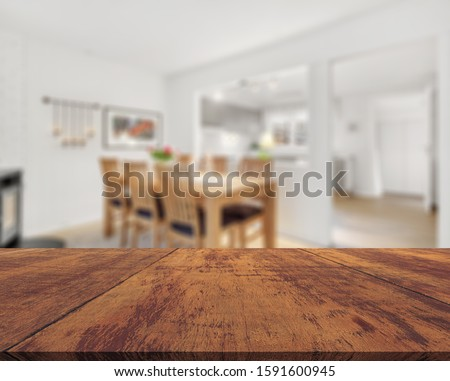 Table Top And Blur Interior of Background #1591600945