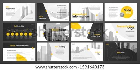 Presentation template design. Vector infographics. Use in Presentation flyer and leaflet corporate report marketing advertising annual report banner. Multipurpose template for presentation slide. #1591640173