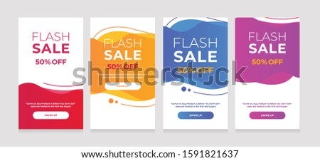 Modern Dynamic fluid mobile for sale banners. Sale banner template design, sale special offer set #1591821637