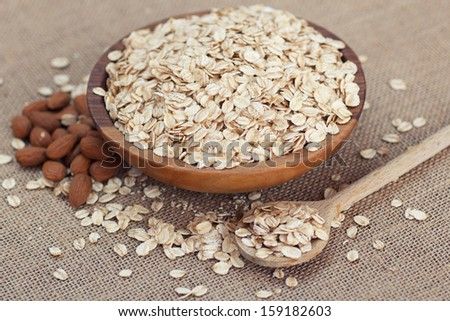 oat flakes and almonds #159182603