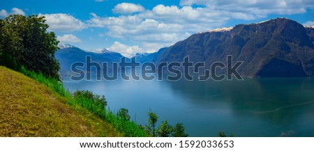 Aurland in Norway Scenic view  #1592033653