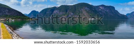 Aurland in Norway Scenic view  #1592033656