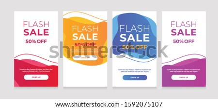 Modern Dynamic fluid mobile for sale banners. Sale banner template design, sale special offer s #1592075107