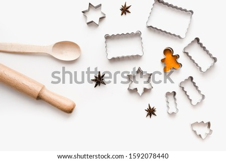 metal cookie cutters, cookie cutters on a white background, themed cookies, cookies for the new year #1592078440