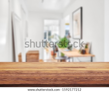 Table Top And Blur Interior of Background #1592177212