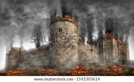 Fictional Portrayal of Windsor Castle Under Siege #1592303614