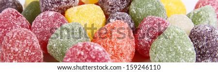 sugary fruit gums