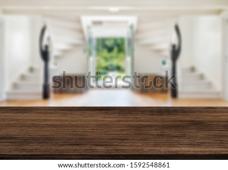 Table Top And Blur Interior of Background #1592548861