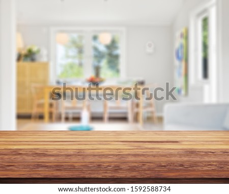 Table Top And Blur Interior of Background #1592588734