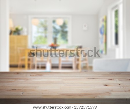 Table Top And Blur Interior of Background #1592591599