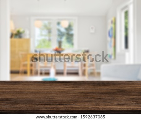 Table Top And Blur Interior of Background #1592637085