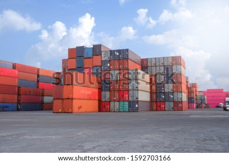 Container stack Import and export concept #1592703166