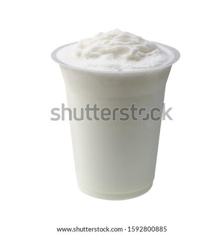 yogurt or yogurt ice drick on a background new #1592800885