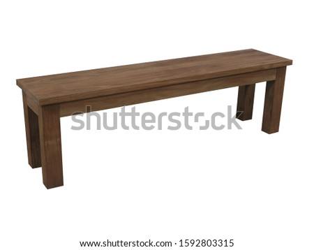 Artistic Ethnic Classic Modern Stylish Decorative Wooden Bench Furniture Design for Home Interior and Garden Outdoor in White Isolated Background #1592803315