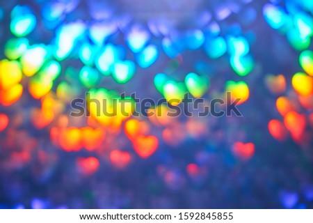 Valentine's day,Colorful background with defocused lights. Multicolor blurred background. Blyur, bokeh #1592845855