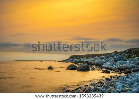 Smokey seascape at west head church point long exposure seashore shoreline coast along the ocean #1593285439