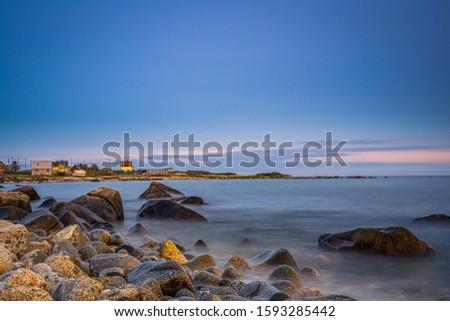 Smokey seascape at west head church point long exposure seashore shoreline coast along the ocean #1593285442