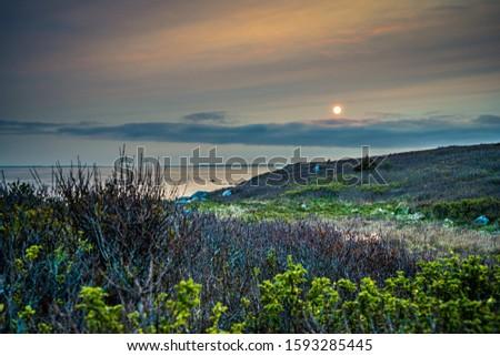 Smokey seascape at west head church point long exposure seashore shoreline coast along the ocean #1593285445
