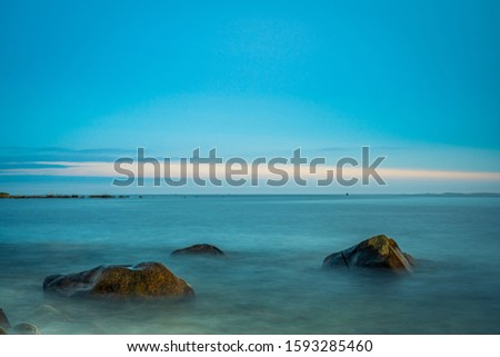 Smokey seascape at west head church point long exposure seashore shoreline coast along the ocean #1593285460