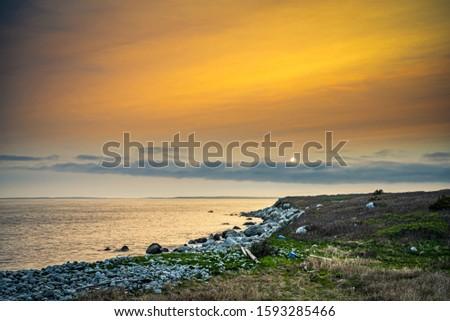 Smokey seascape at west head church point long exposure seashore shoreline coast along the ocean #1593285466