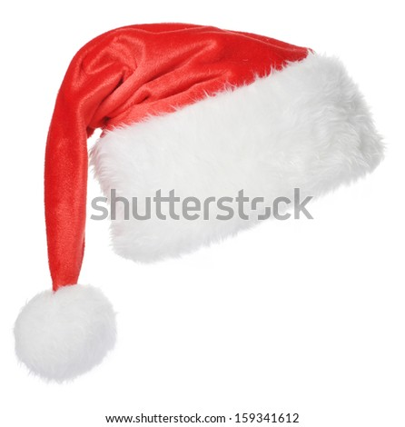 Santa Claus hat isolated on white background #159341612