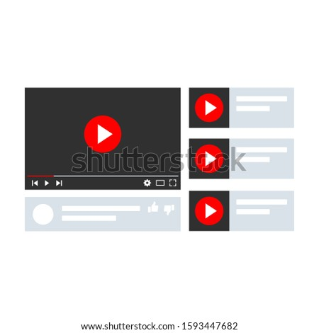 Flat design screens collection for video - vector #1593447682