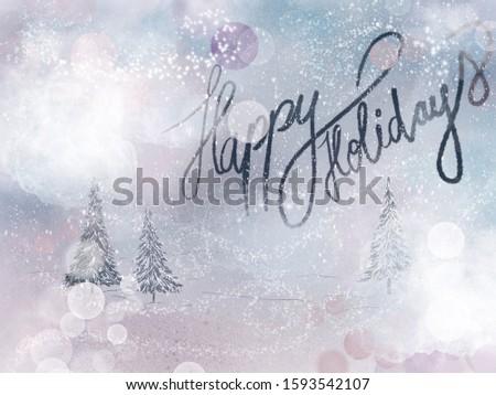 Christmas cards, Holyday winter card #1593542107