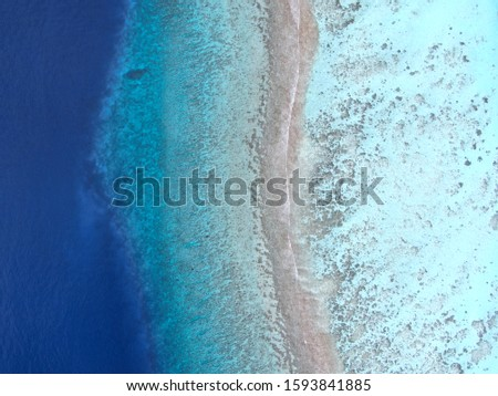 Coral reef thoodo island aero photo #1593841885