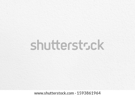 White paint cement wall texture for paper background. #1593861964