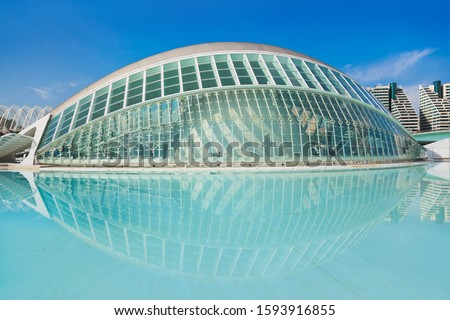 Modern Architecture in the City of Arts and Sciences - Valencia Spain #1593916855