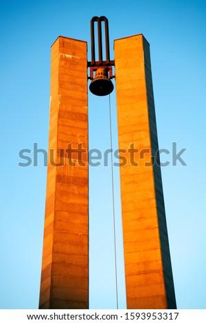 Memorandum Monument on Eroilor Avenue, Heroes Avenue - a central avenue in Cluj-Napoca, Romania, Europe                        #1593953317