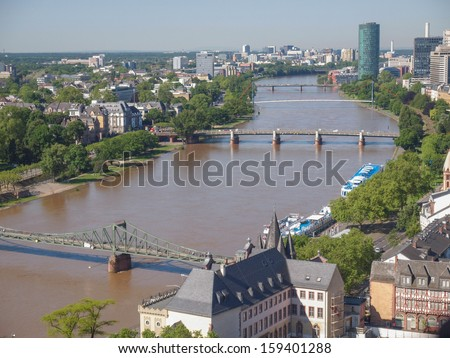 Aerial view of the city of Frankfurt am Main in Germany #159401288