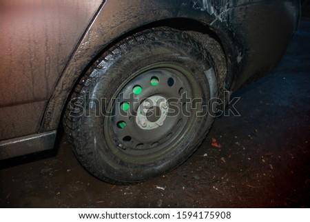 dirty wheel on a dirty car #1594175908