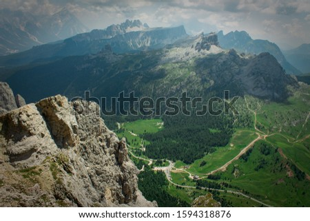 dolomites Alps Italy,view from above #1594318876