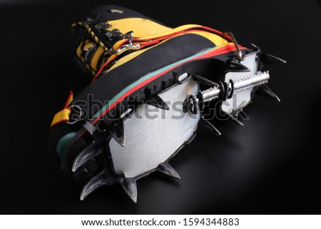 crampon mounting means and crampon set #1594344883