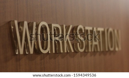 Acrylic Office sign on wooden door