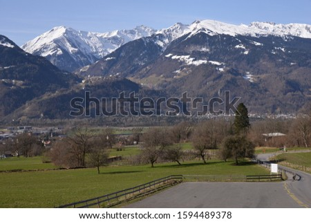 Peaceful Scenic View of the Heididorf #1594489378