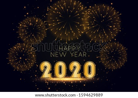 2020 New Year Fireworks Background #1594629889