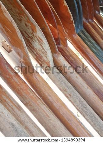 The surface of oar isolated Royalty-Free Stock Photo #1594890394