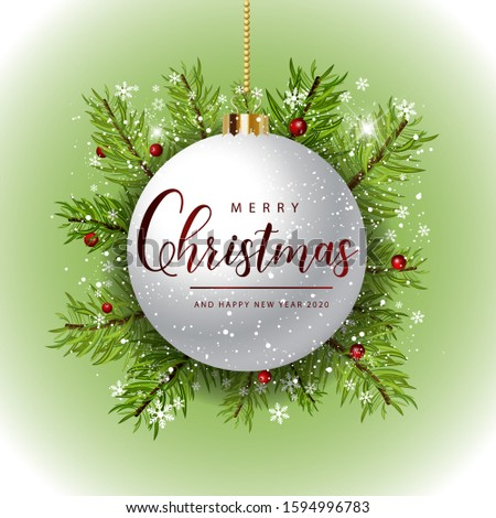 Decorative merry christmas poster posts with elements of graphic illustrations for merry christmas and happy new year 2020 #1594996783