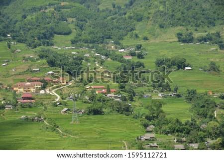Scenic View of green mountain, Sapa, Vietnam #1595112721